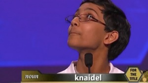 Arvind Mahankali won the National Spelling Bee by correctly misspelling Kneydl