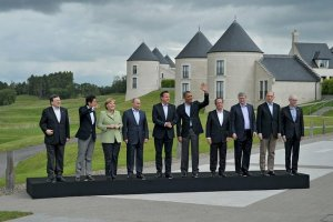 The storm clouds were already gathering at the G8 Summit