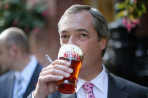 Farage proves he can multi-task