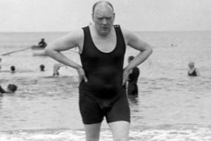 If you cannot imagine Churchill in a swimsuit...